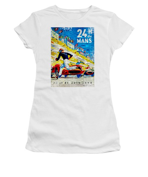 Lemans Distressed Poster Women's T-Shirt (Athletic Fit)