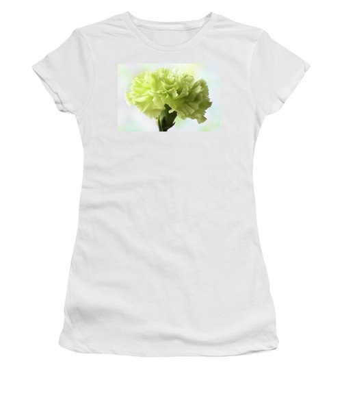Women's T-Shirt (Junior Cut) featuring the photograph Lemon Carnation by Terence Davis