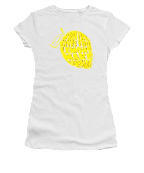 Lemonade Women's T-Shirt (Junior Cut) by Priscilla Wolfe