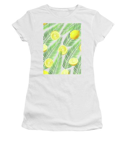 Lemons Women's T-Shirt (Junior Cut) by Uma Gokhale