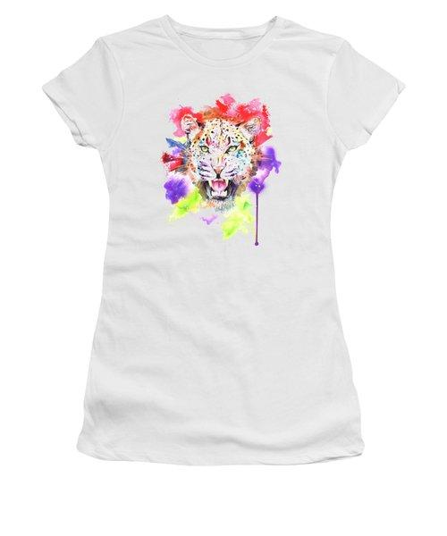 Leopard Women's T-Shirt (Junior Cut) by Isabel Salvador