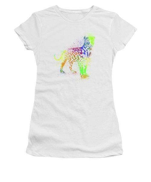 Leopard Watercolor 1 Women's T-Shirt (Athletic Fit)