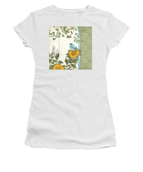 Les Magnifiques Fleurs Iv - Secret Garden Women's T-Shirt (Junior Cut) by Audrey Jeanne Roberts