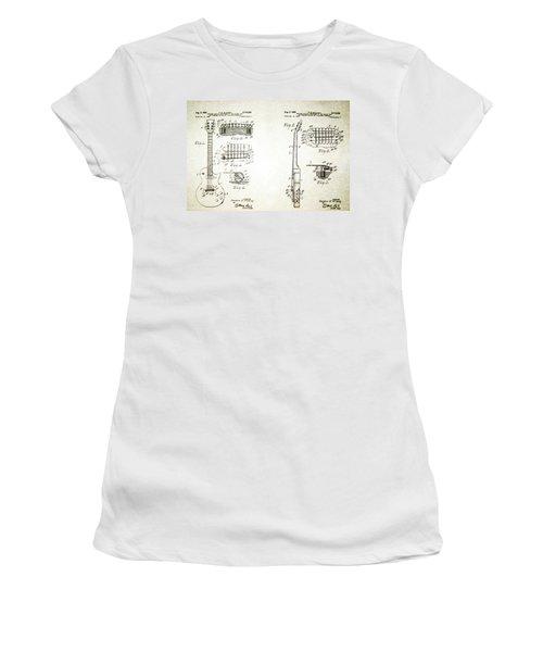 Les Paul Guitar Patent 1955 Women's T-Shirt