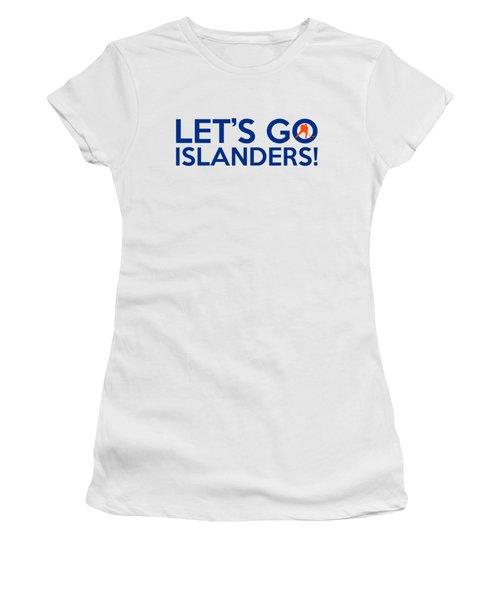 Let's Go Islanders Women's T-Shirt (Junior Cut) by Florian Rodarte