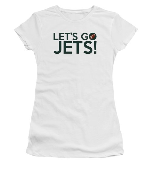 Let's Go Jets Women's T-Shirt (Athletic Fit)