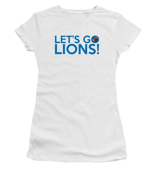 Let's Go Lions Women's T-Shirt (Athletic Fit)