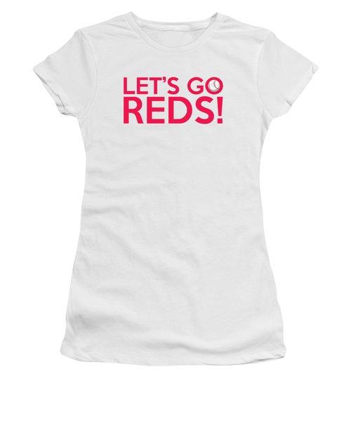 Let's Go Reds Women's T-Shirt (Athletic Fit)