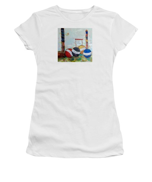 Let's Play Croquet Women's T-Shirt (Athletic Fit)