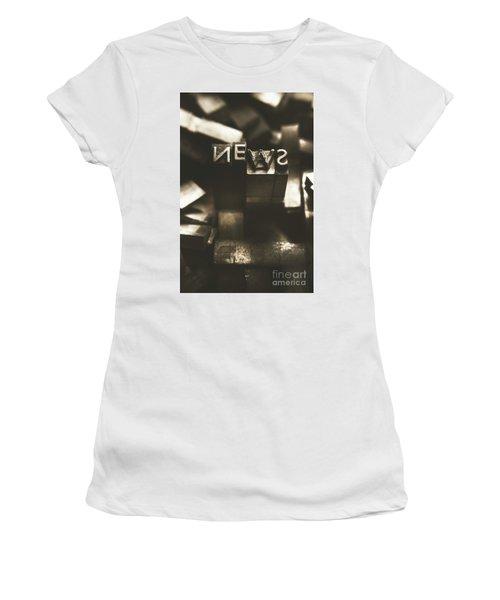 Letterpress And Vintage Journalism Women's T-Shirt