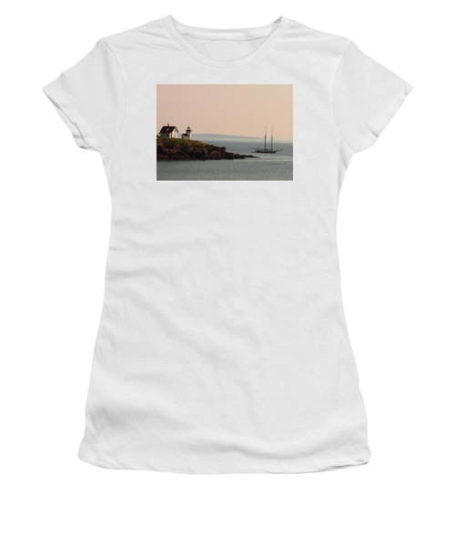 Lewis R French At The Curtis Island Lighthouse Women's T-Shirt (Athletic Fit)