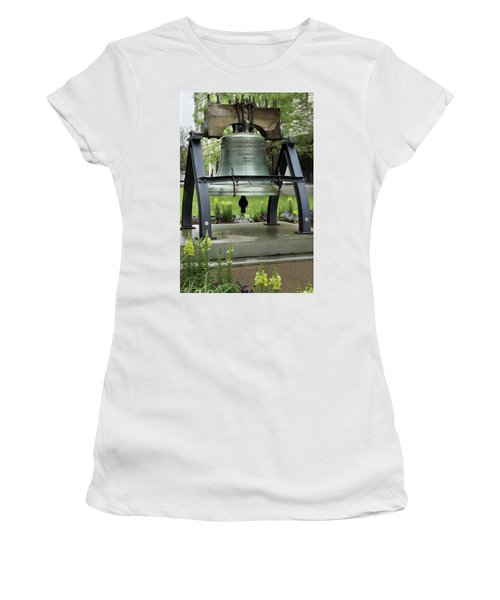 Women's T-Shirt (Junior Cut) featuring the photograph Liberty Bell Replica by Mike Eingle