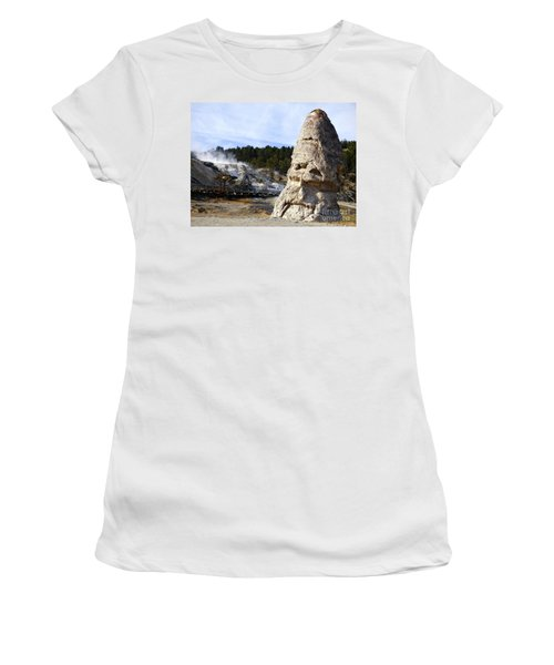 Liberty Cap At Mammoth Hot Springs Women's T-Shirt (Athletic Fit)