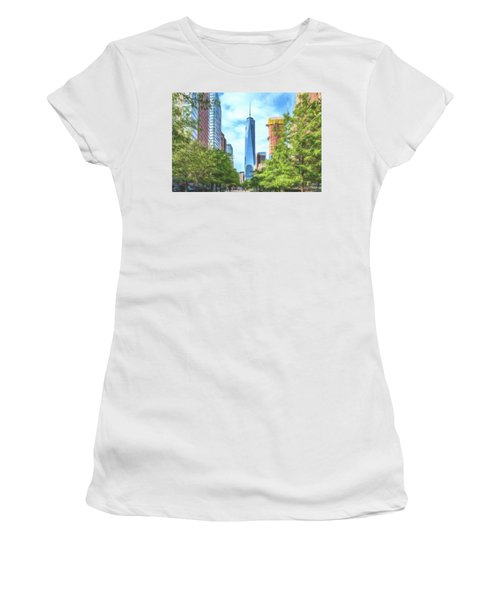 Women's T-Shirt featuring the photograph Liberty Tower by Theodore Jones