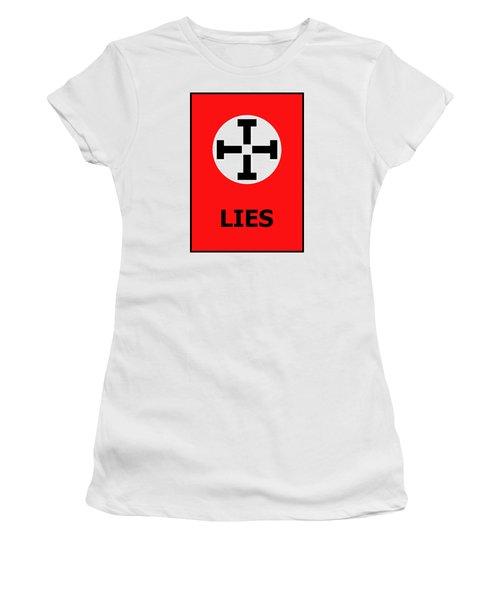 Lies Women's T-Shirt (Junior Cut) by Richard Reeve