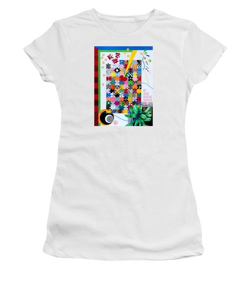 Life Is A Puzzle Women's T-Shirt (Junior Cut) by Thomas Gronowski