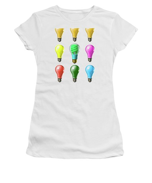 Light Bulbs Of A Different Color Women's T-Shirt (Athletic Fit)