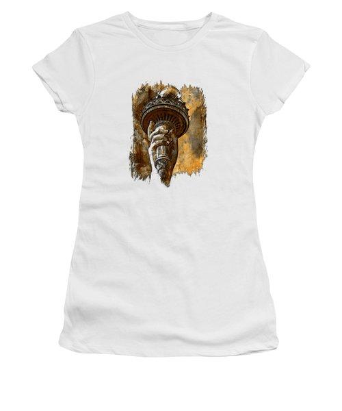Light The Path Earthy 3 Dimensional Women's T-Shirt (Junior Cut) by Di Designs