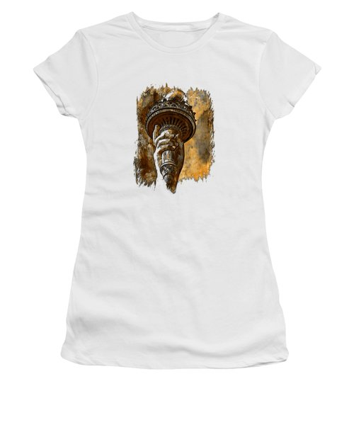 Light The Path Earthy 3 Dimensional Women's T-Shirt (Athletic Fit)