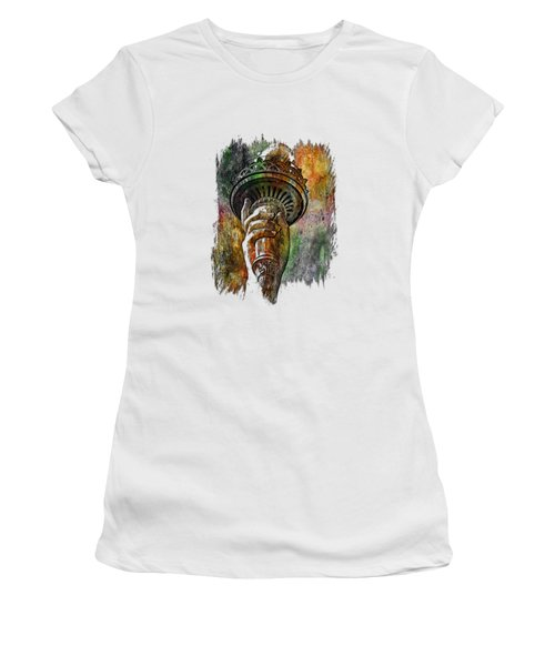 Light The Path Muted Rainbow 3 Dimensional Women's T-Shirt (Athletic Fit)