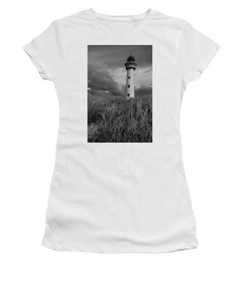Lighthouse Bw Women's T-Shirt (Athletic Fit)