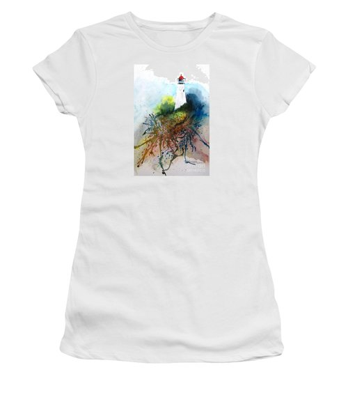 Lighthouse I - Original Sold Women's T-Shirt (Junior Cut) by Therese Alcorn