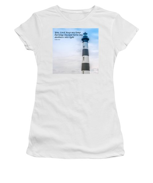 Lighthouse Scripture Verse Women's T-Shirt (Athletic Fit)
