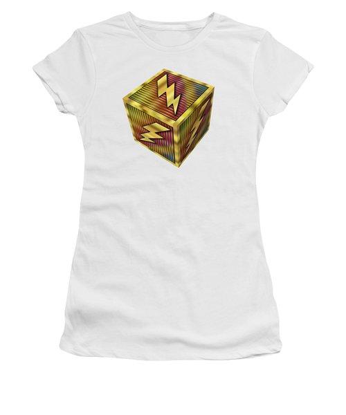 Lightning Bolt Cube - Transparent Women's T-Shirt