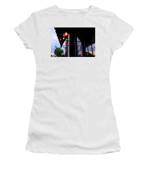 Lights In Corktown In Detroit Michigan Women's T-Shirt