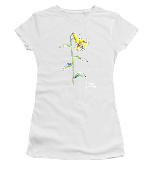 Lily Watercolor Painting 2 Women's T-Shirt