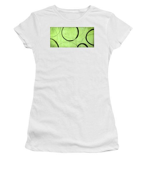 Women's T-Shirt (Junior Cut) featuring the painting Lime Ensos by Julie Niemela