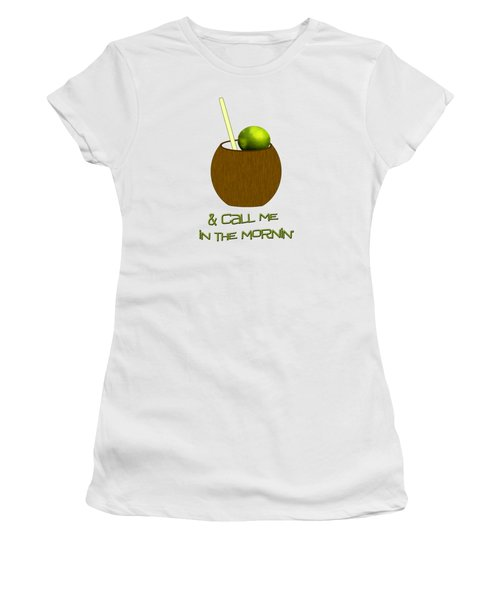 Lime In The Coconut Women's T-Shirt (Junior Cut) by Methune Hively