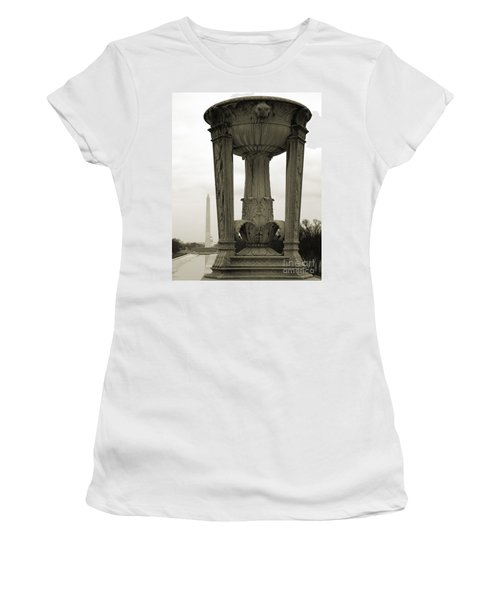 Women's T-Shirt (Athletic Fit) featuring the photograph Lincoln To Washington by Angela DeFrias