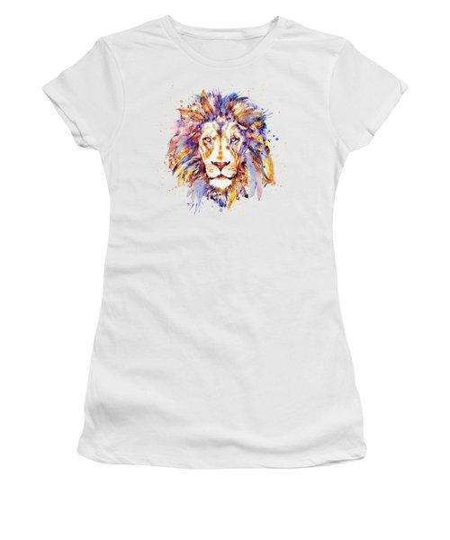 Lion Head Women's T-Shirt (Junior Cut) by Marian Voicu