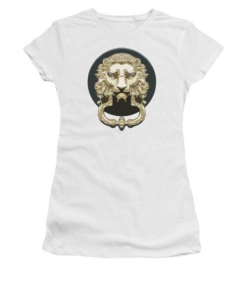 Lion Knocker Women's T-Shirt (Athletic Fit)