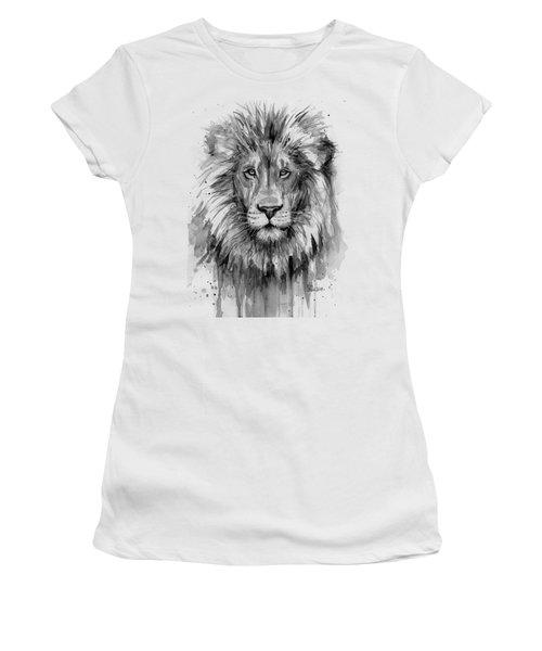 Lion Watercolor  Women's T-Shirt