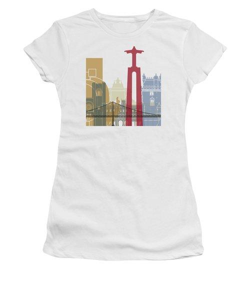 Lisbon Skyline Poster Women's T-Shirt