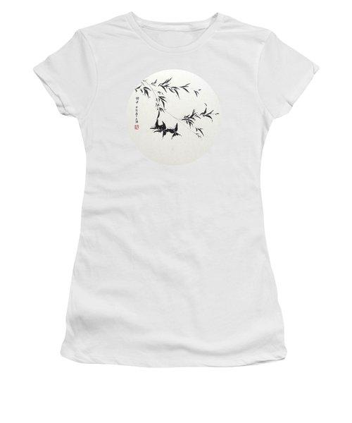 Little Dance - Round Women's T-Shirt (Athletic Fit)