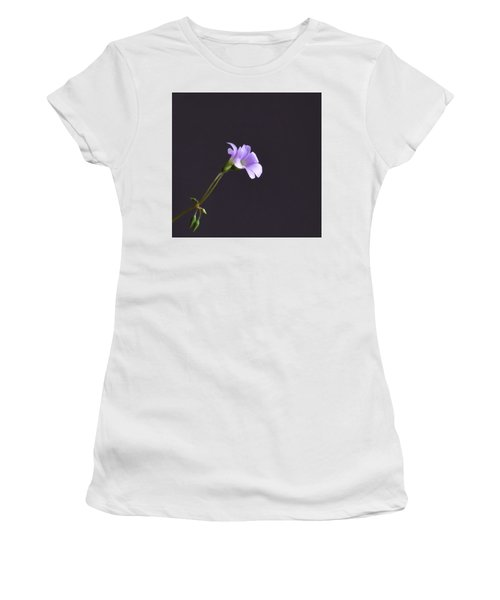 Little Lavender Flowers Women's T-Shirt (Junior Cut) by Kathy Eickenberg