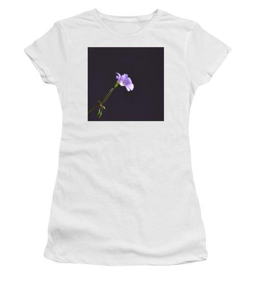 Little Lavender Flowers Women's T-Shirt (Athletic Fit)