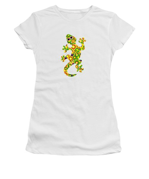 Little Lizard - Animal Art Women's T-Shirt (Junior Cut) by Anastasiya Malakhova