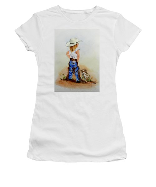 Little Miss Big Britches Women's T-Shirt (Athletic Fit)