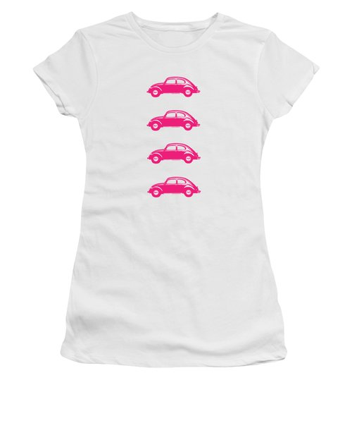 Little Pink Beetles Women's T-Shirt (Athletic Fit)