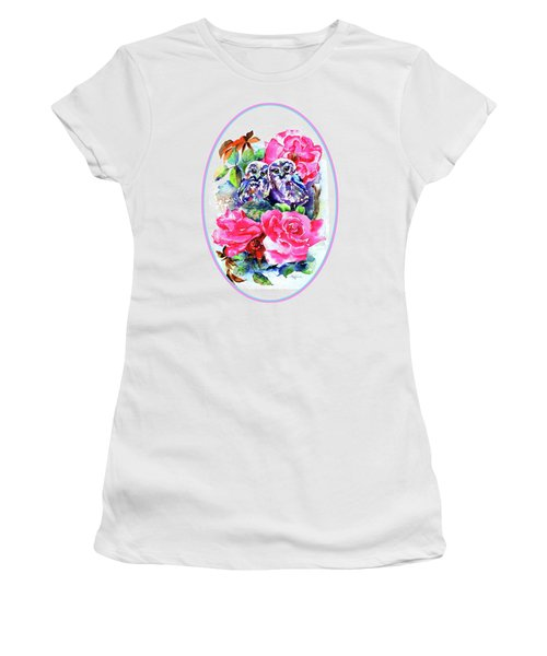 Little Saw Whet Owls Women's T-Shirt