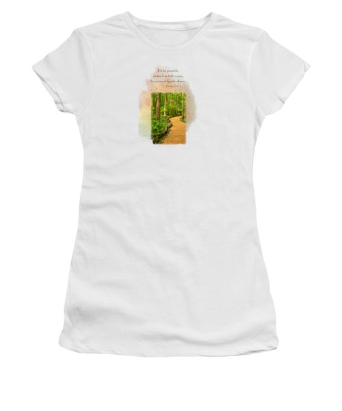 Live In Peace Women's T-Shirt (Junior Cut) by Larry Bishop