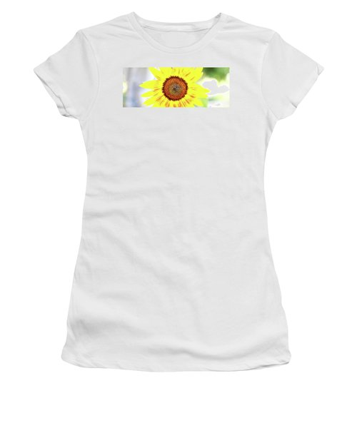 Live Simply Bloom Wildly Women's T-Shirt (Athletic Fit)