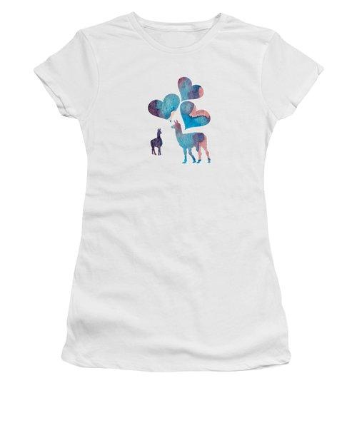 Llama Art Women's T-Shirt (Athletic Fit)