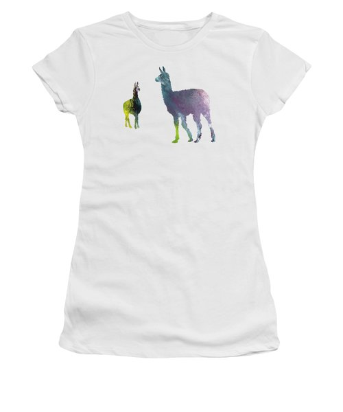 Llama Women's T-Shirt (Junior Cut) by Mordax Furittus