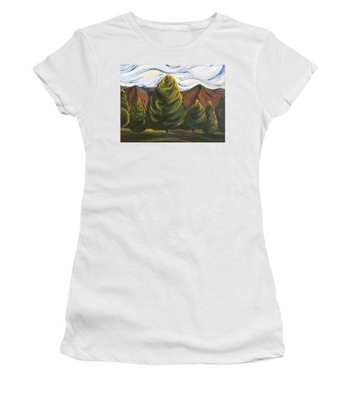 Lollipop Trees Women's T-Shirt (Athletic Fit)
