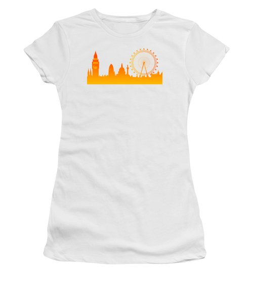 London City Skyline Women's T-Shirt (Athletic Fit)